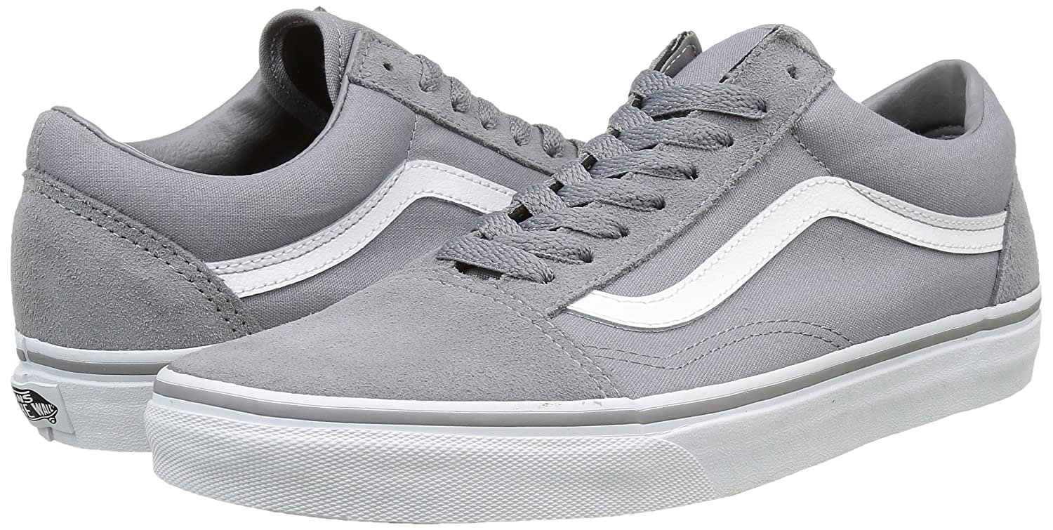 Vans Unisex Old Skool Classic Skate Shoes B01DYS855G 9 M M US Women / 7.5 M M US Men|(Suede/Canvas) Frost Gray/True White 2b7436