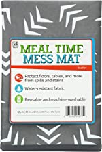 STS Baby 527701 Water Resistant, Machine Washable Meal Time Mess Mat