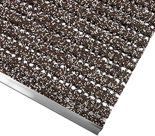 casa pura - Escaleras Antideslizantes - Granula de PVC | Escalera Exterior | Nariz de Marcha Antideslizante con riel de Aluminio, PVC, marrón, 24x60 cm: Amazon.es: Hogar