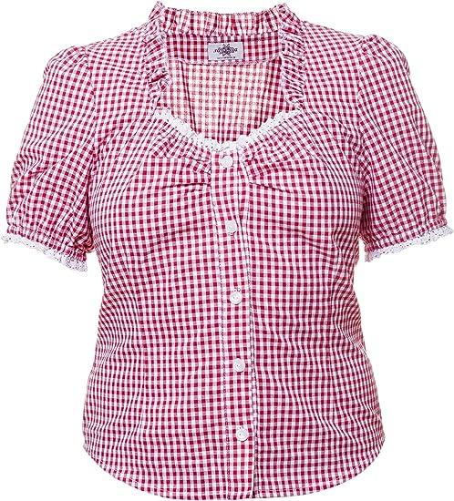 Tracht Blusa Para Piel Pantalón cuadros Vichy cuadros rojo/blanco, Tracht Mode para mujer rot - weiß 40: Amazon.es: Ropa y accesorios