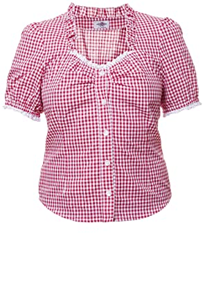 Tracht Blusa Para Piel Pantalón cuadros Vichy cuadros rojo/blanco, Tracht Mode para mujer