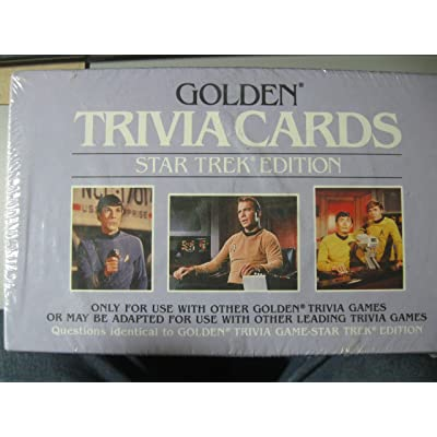 Golden Trivia Cards - Star Trek Edition: Toys & Games