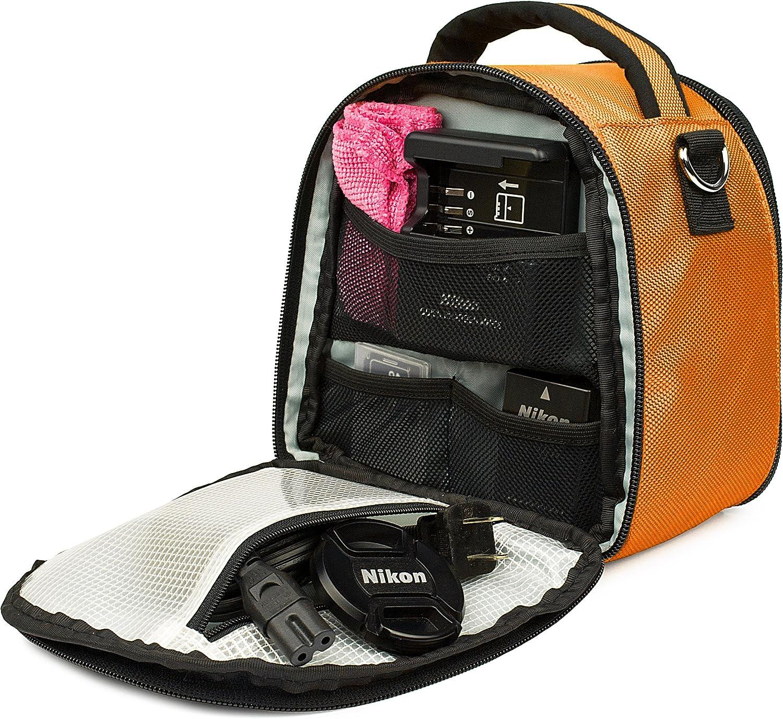 VanGoddy Laurel Titan Orange Carrying Case Bag for Panasonic Camcorders