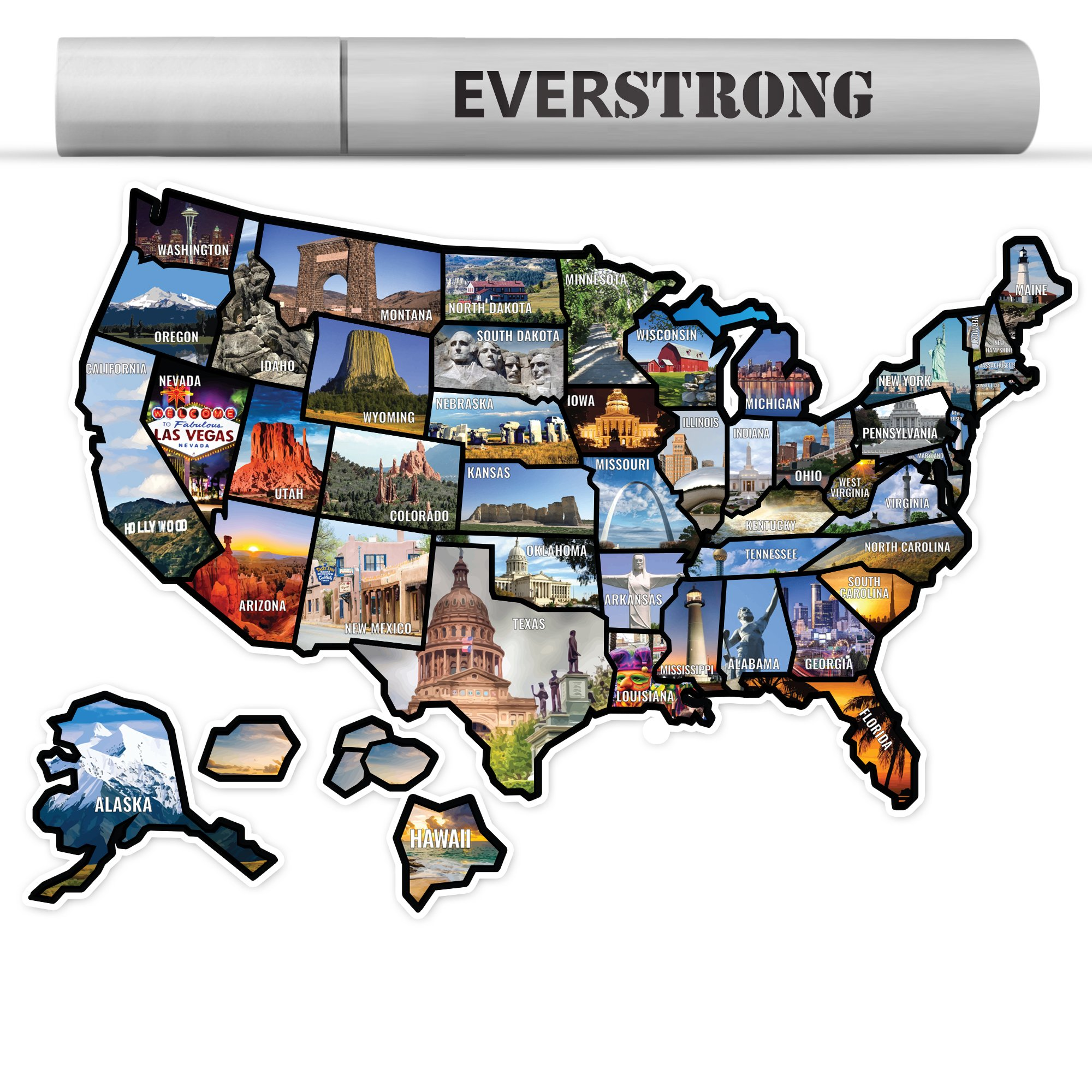 EverStrong Camper RV Decal Sticker For MotorHome Trailer - Camper Accessories - RV Accessories - Camper Decal - 21'' by 15''
