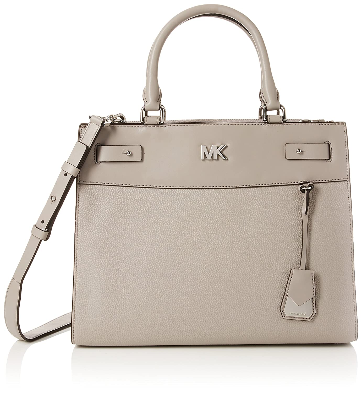 cd0a3c25af2c Michael Kors Womens Reagan Lg Satchel Clutch Grey (Pearl Grey)  Handbags   Amazon.com