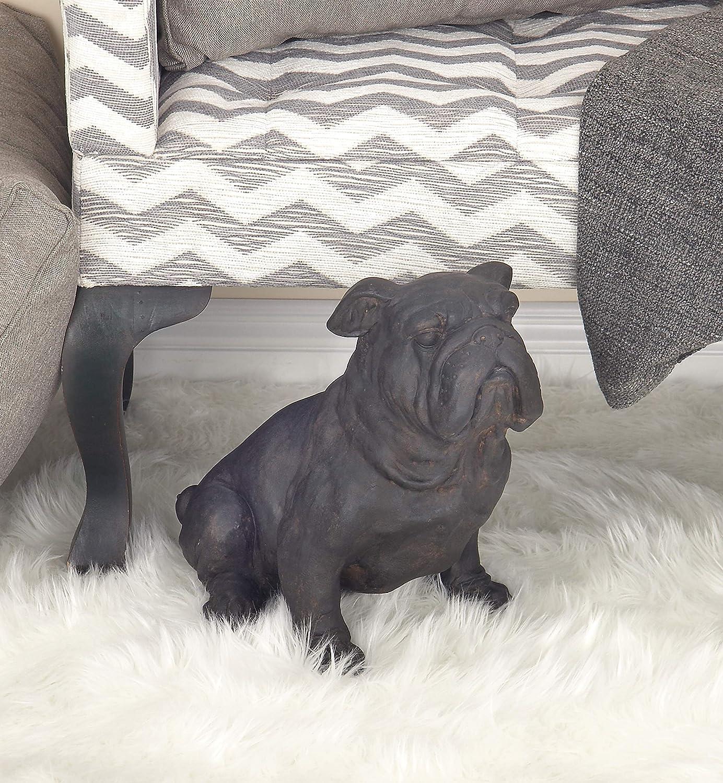 Deco 79 Resin Sitting Bulldog Sculpture 17 W 13 H Black Home Kitchen Amazon Com