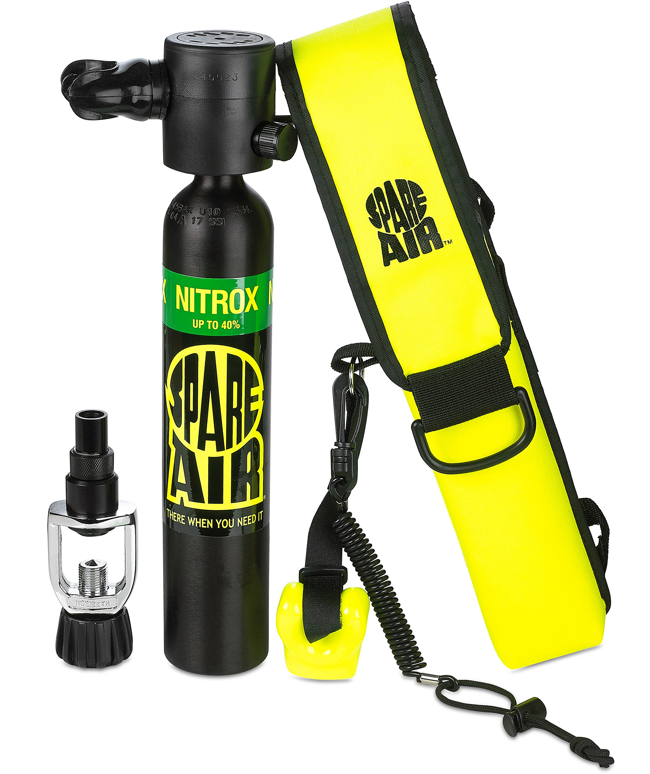 Spare Air Submersible Emergency Air Supply Package Set Scuba Diving Tank(Black, 3.0 Kit Nitrox) by Spare Air