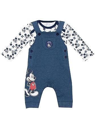 94f84c639 Disney Baby Boys Mickey Mouse Dungaree Set Age 12 to 18 Months:  Amazon.co.uk: Clothing