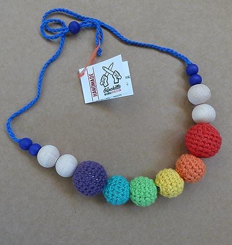 Collar de lactancia y porteo Arco Iris: Amazon.es: Handmade