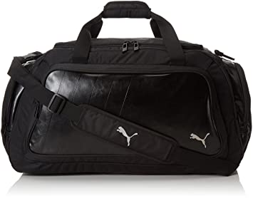 Puma Polyester Black Cool Grey And Silver Gym Bag 7293301
