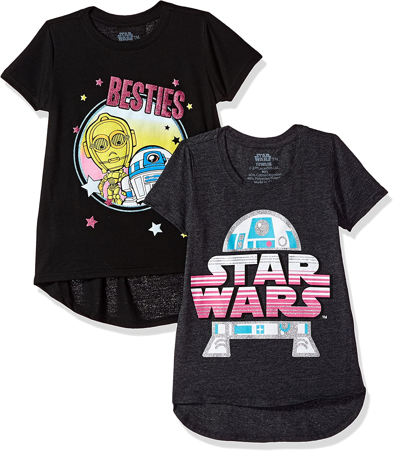 Spotted Zebra Toddler Girls Star Wars 4-Pack Short-Sleeve T-Shirts