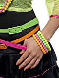 Smiffy's Women's Neon Bracelets, Pack of 4, Assorted Colours, One Size, 27366 (US)