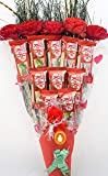 Holy Krishna's Bouquet of Nestle Kitkat Chocolate Pack of 6 with Soft Toy & Message Card + Laxmi ATM Card (All Items As Shown in Image)