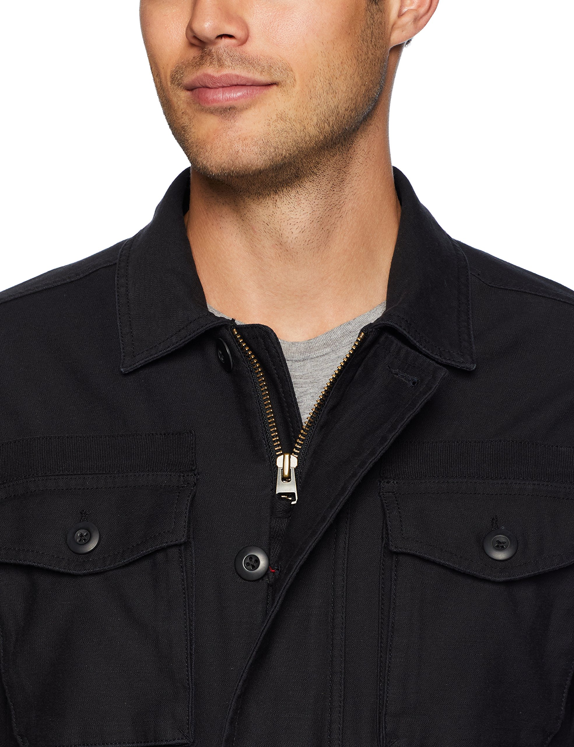 Goodthreads Men's 4-Pocket Military Jacket, Caviar/Black, Large by Goodthreads (Image #4)
