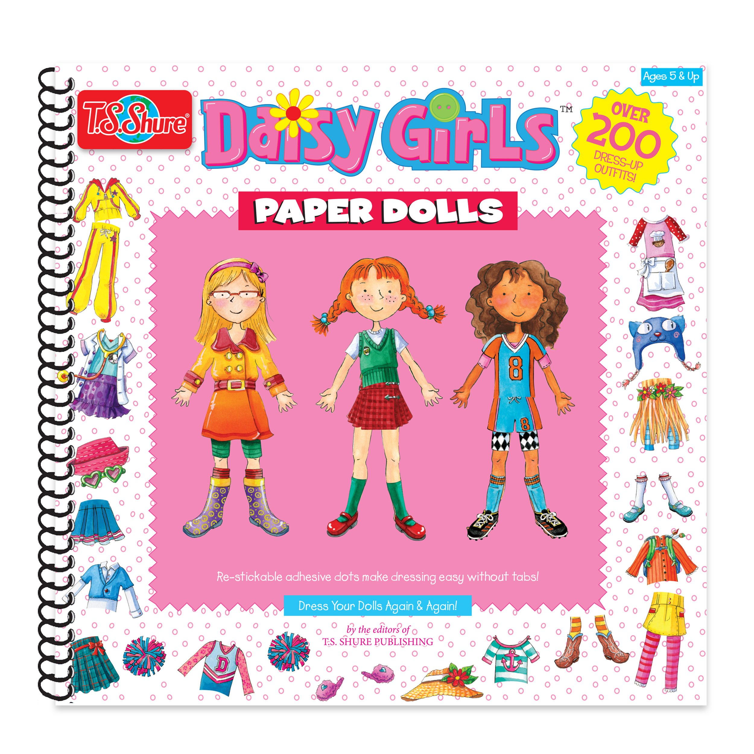 T.S. Shure Daisy Girls Paper Dolls Activity Book