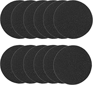 12 Pack Compost Bin Filters Extra Thick Activated Carbon Kitchen Compost Filters Refill Replacement Filters, Odor Absorbing Charcoal Filters 6.35 Inch