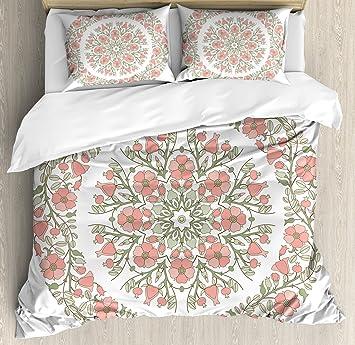amazon com lunarable dusty rose duvet cover set queen size mandala rh amazon com