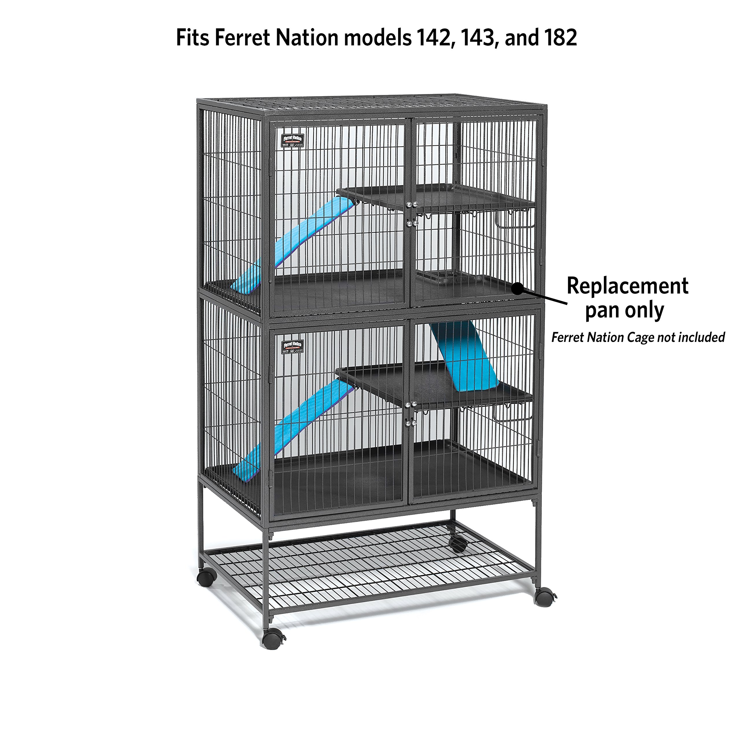 MidWest Homes for Pets 143PAN Replaement Pan for Nation Cages, 34.5 x 22.5 x 1.125 by MidWest Homes for Pets