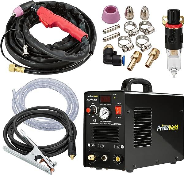 PRIMEWELD Premium & Rugged 50A Air Inverter Plasma Cutter Automatic Dual Voltage 110/220VAC 1/2