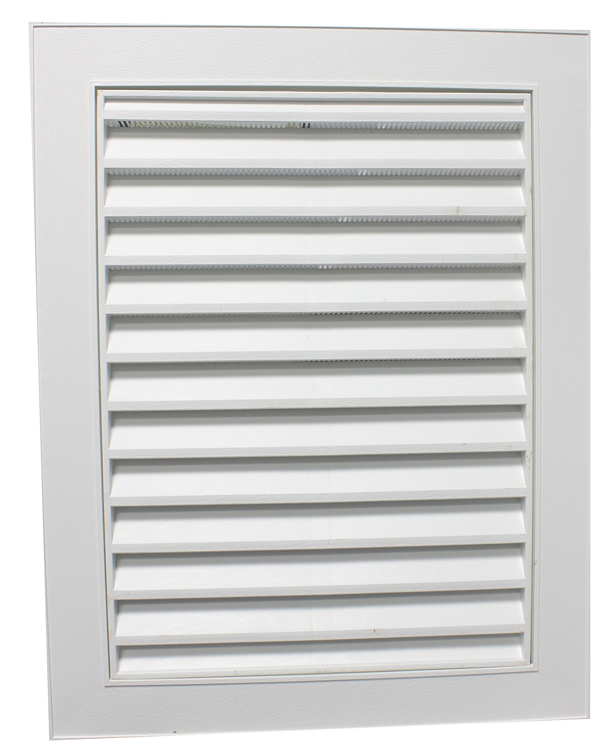 Duraflo 626120-00 Large Rectangular Gable Vent, 22 in W X 28 in H, 74 Sq-in, Polypropylene, 22'' x 28'', White by Duraflo