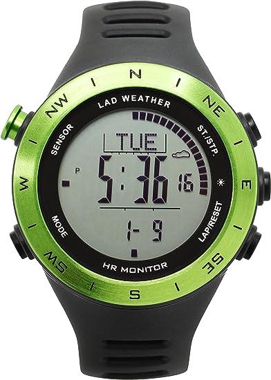 [Lad Weather alemán Sensor pulsómetro cronómetro ABC multifunción reloj formación/actividades deportivas: Amazon.es: Relojes