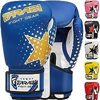 Farabi kinder bokshandschoenen 6-oz, kickboksen muay thai training MMA sparringhandschoenen, beste handschoenen voor…