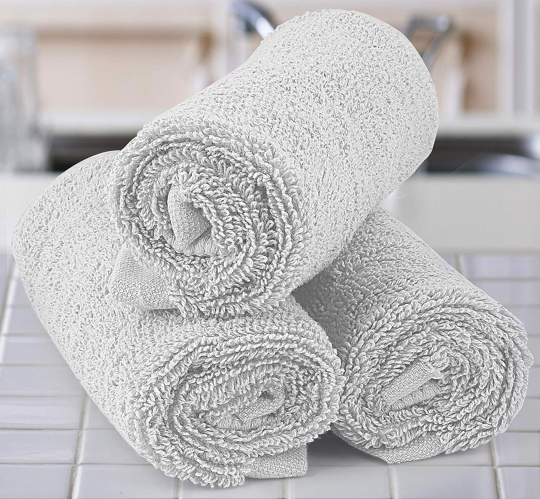 Utopia Towels - Toallitas de algodón de lujo (paquete de 12, blanco, 30 x 30 cm): Amazon.es: Hogar