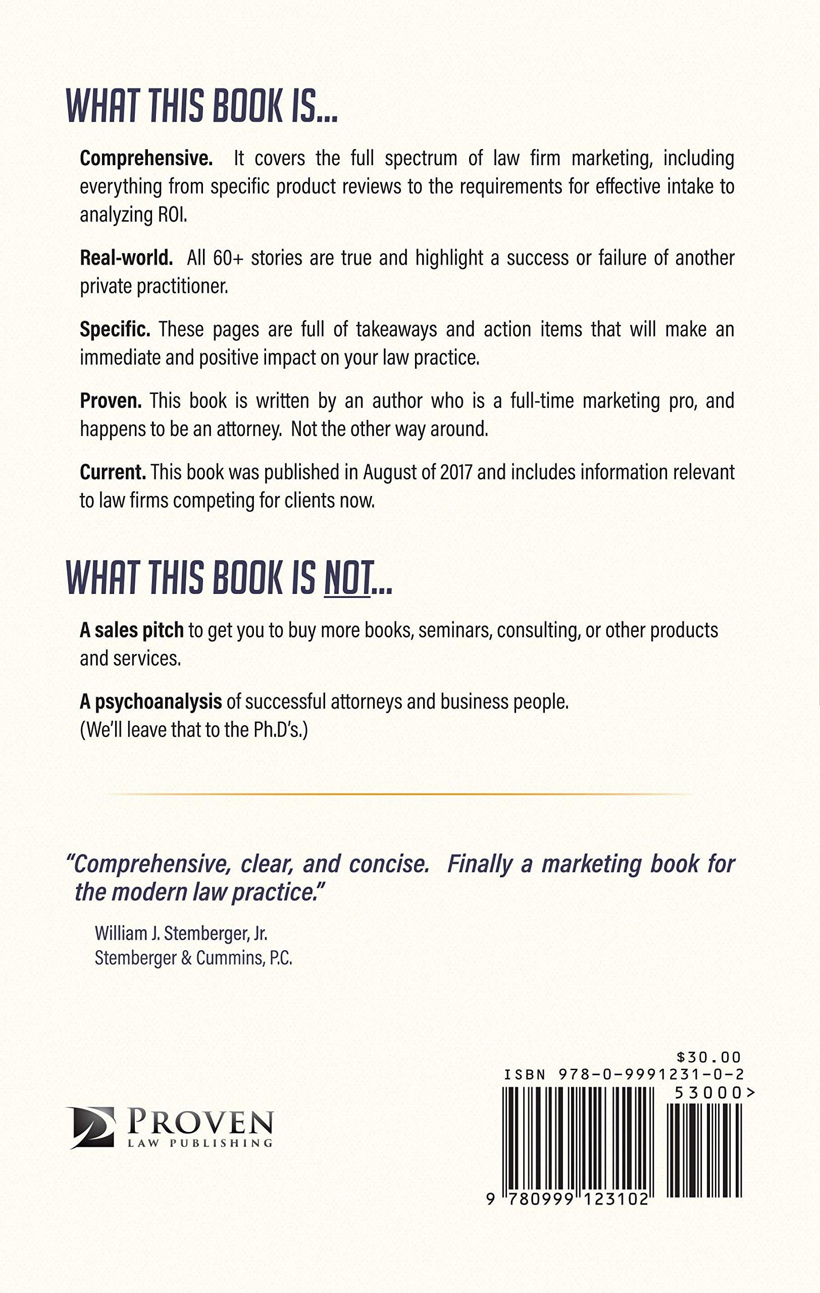The Lawyer Marketing Book Matt Starosciak Amazoncom Books