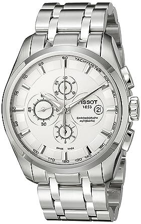 pas cher pour réduction b7cef d1a04 Tissot Men's T0356271103100 Couturier Analog Display Swiss Automatic Silver  Watch