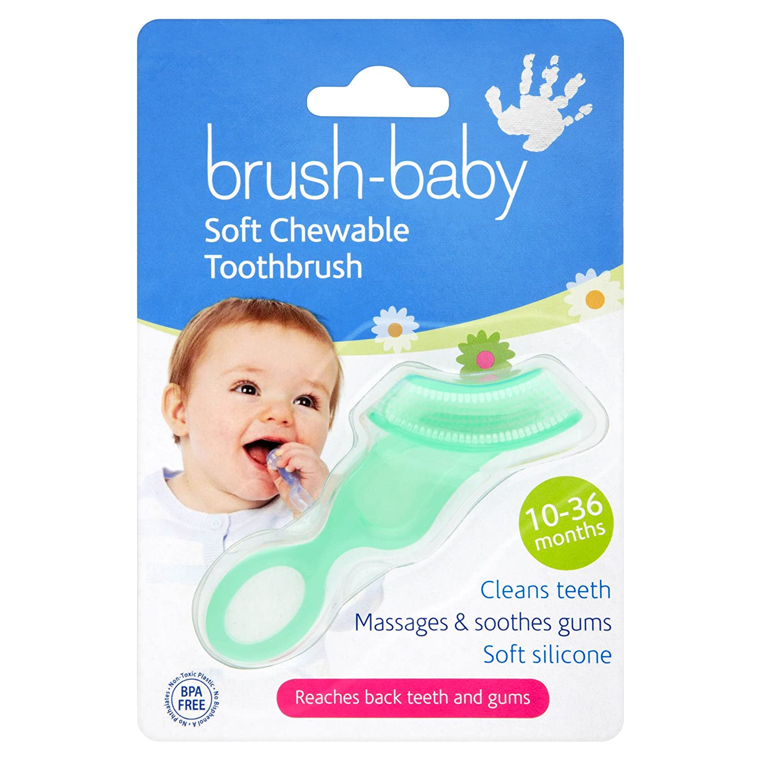 Brush-Baby Chewable Toothbrush (Blue) Brushbaby Ltd 112