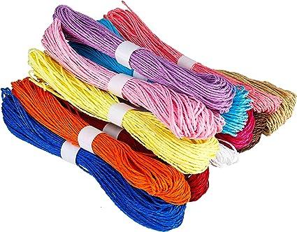 Cuerda de papel de 2 mm para manualidades, 12 colores: Amazon ...