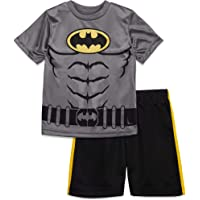 DC Comics Conjunto de Deporte de Batman con Pantalón Corto de Malla y Camiseta de Manga Corta para Niños
