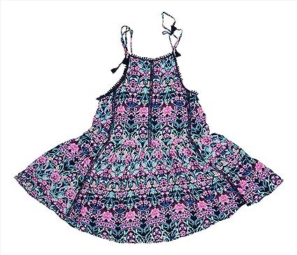 4ed51b17c4 Jessica Simpson Tie-Shoulder Floral Print Bathing Suit Summer Cover Up  (Dark Navy,