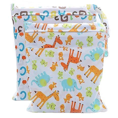 LIXFF Mojado y seco Bolsa 2 Unidades para pañales de bebé ...