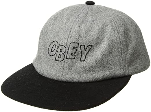 8982b331aa2f Obey herren Strike 6 Panel Snapback Hat Baseballmütze - schwarz -  Amazon.de   Bekleidung