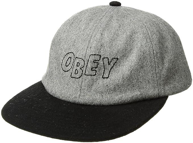 Obey Hombres Strike 6 Panel Snapback Hat Gorra de béisbol - negro -: Amazon.es: Ropa y accesorios