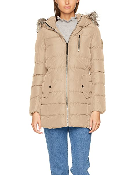 Only Onldana Nylon Coat Otw, Chaqueta para Mujer, Beige (Simply Taupe Detail: