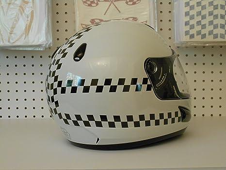 Amazoncom Reflective Motorcycle Helmet Decal Kit Checkers - Pink motorcycle helmet decals