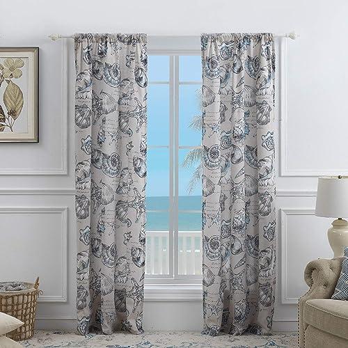 Best window curtain panel: Barefoot Bungalow Cruz Curtain Panel Set