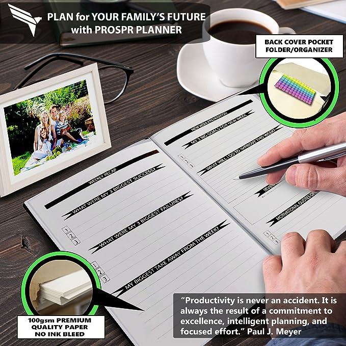 Amazon.com: PROSPR Premium Productivity & Life Planner ...