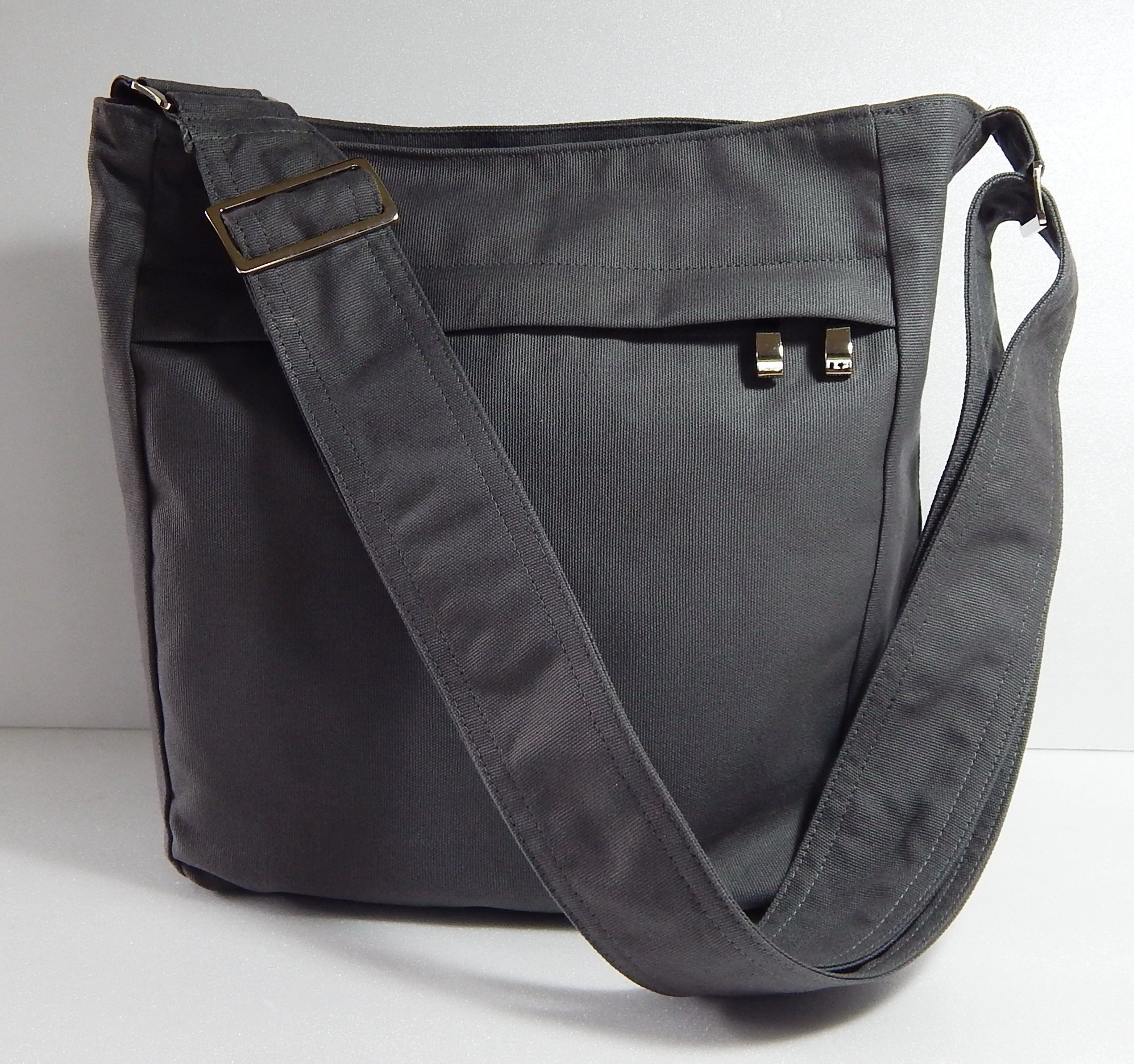 Virine grey cross body bag, messenger bag, everyday bag, shoulder bag, handbag, travel bag, women - KATE
