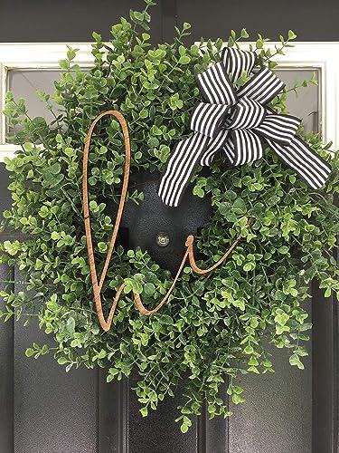Amazon Com Eucalyptus Wreath Hi Front Door Wreath Farmhouse