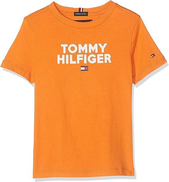 Tommy Hilfiger Logo tee S/s Camiseta, Naranja (Russet Orange 800), 128 (Talla del Fabricante: 8) para Niños: Amazon.es: Ropa y accesorios