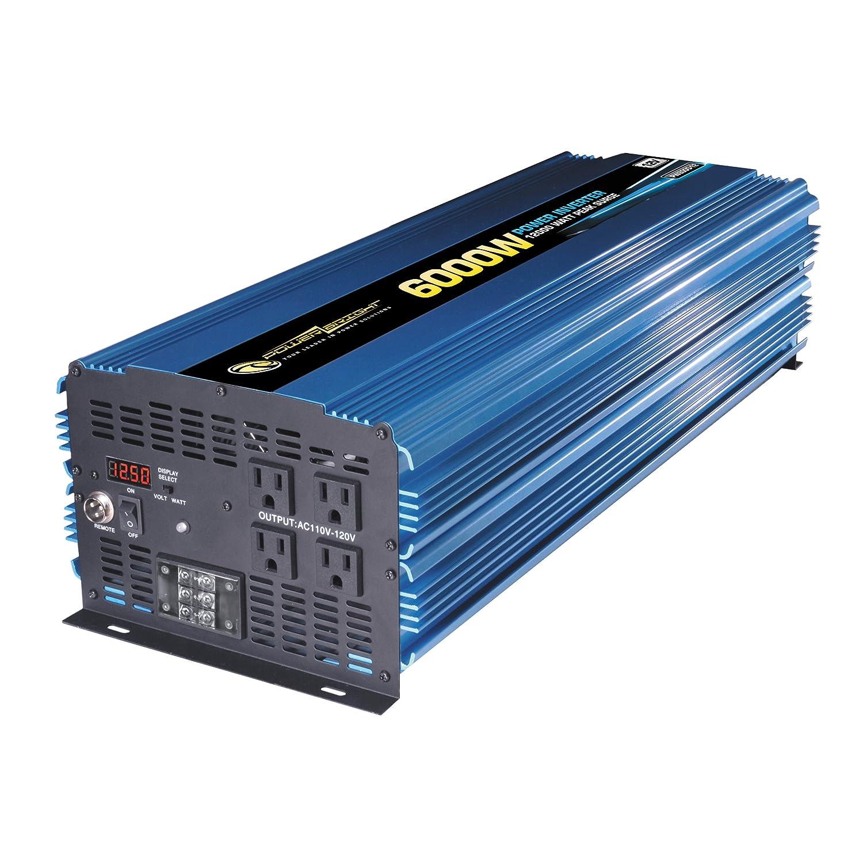Power Bright Pw6000 12 Inverter 6000 Watt Volt Hurricane Boat Wiring Diagram Dc To 110 Ac Car Electronics