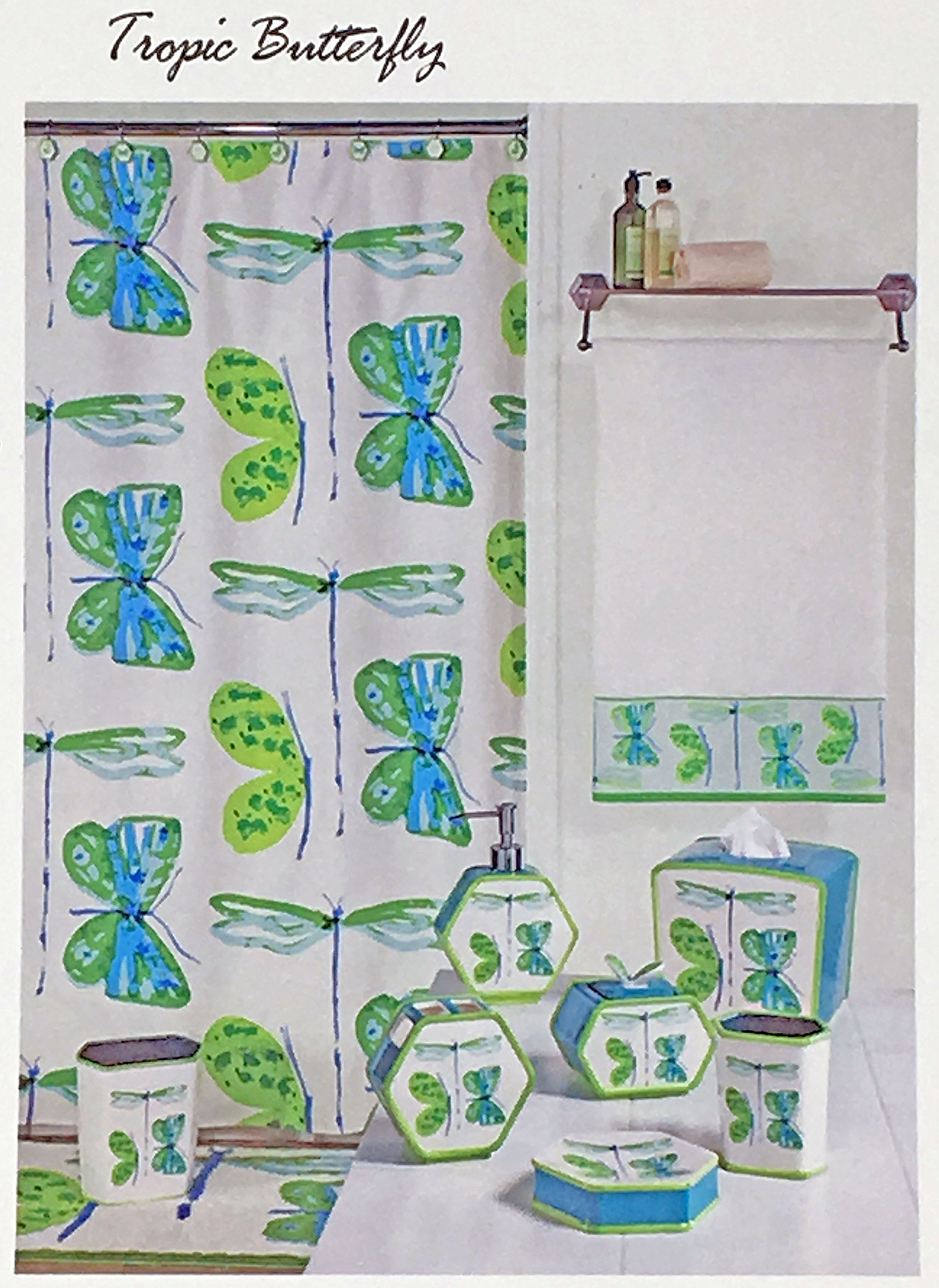 Tropic Butterfly Bath Collection by Vera
