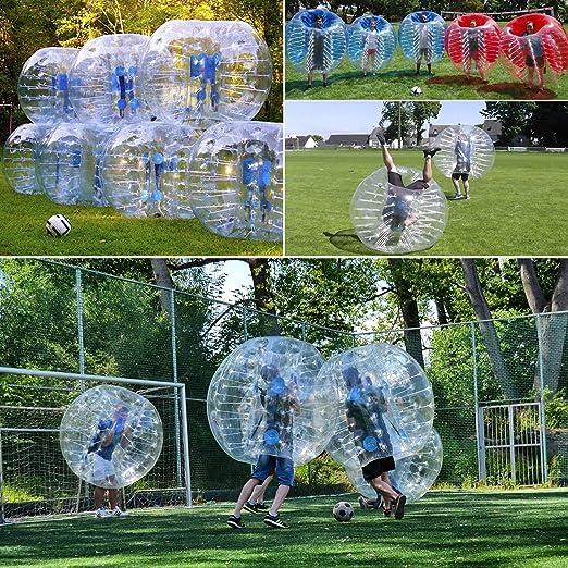 amazingsportstm burbuja traje de pelotas de fútbol de diámetro 5 1,5 m burbuja bola de fútbol traje para adultos medio azul medio claro PVC, ...