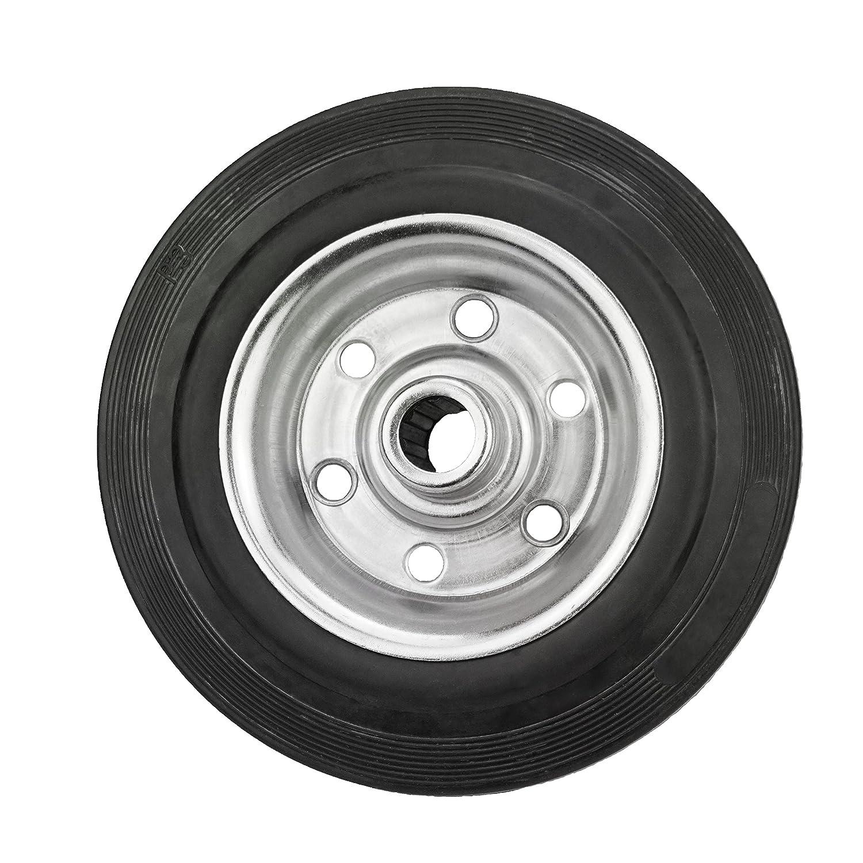 1 140mm Gomma Piena Della Ruota cerchi in acciaio diverse misure colore: nero