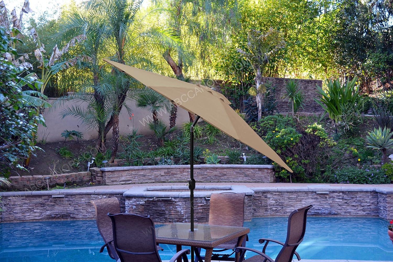 Ombrello di ricambio per ombrellone da giardino e patio solo copertura per ombrellone da 2,7 m 8 stecche ABCCANOPY