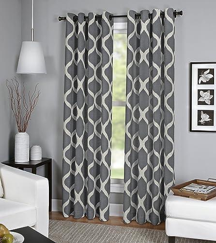 Elrene Home Fashions 26865820447 Grommet Top Linen Look Single Panel Window Curtain Drape