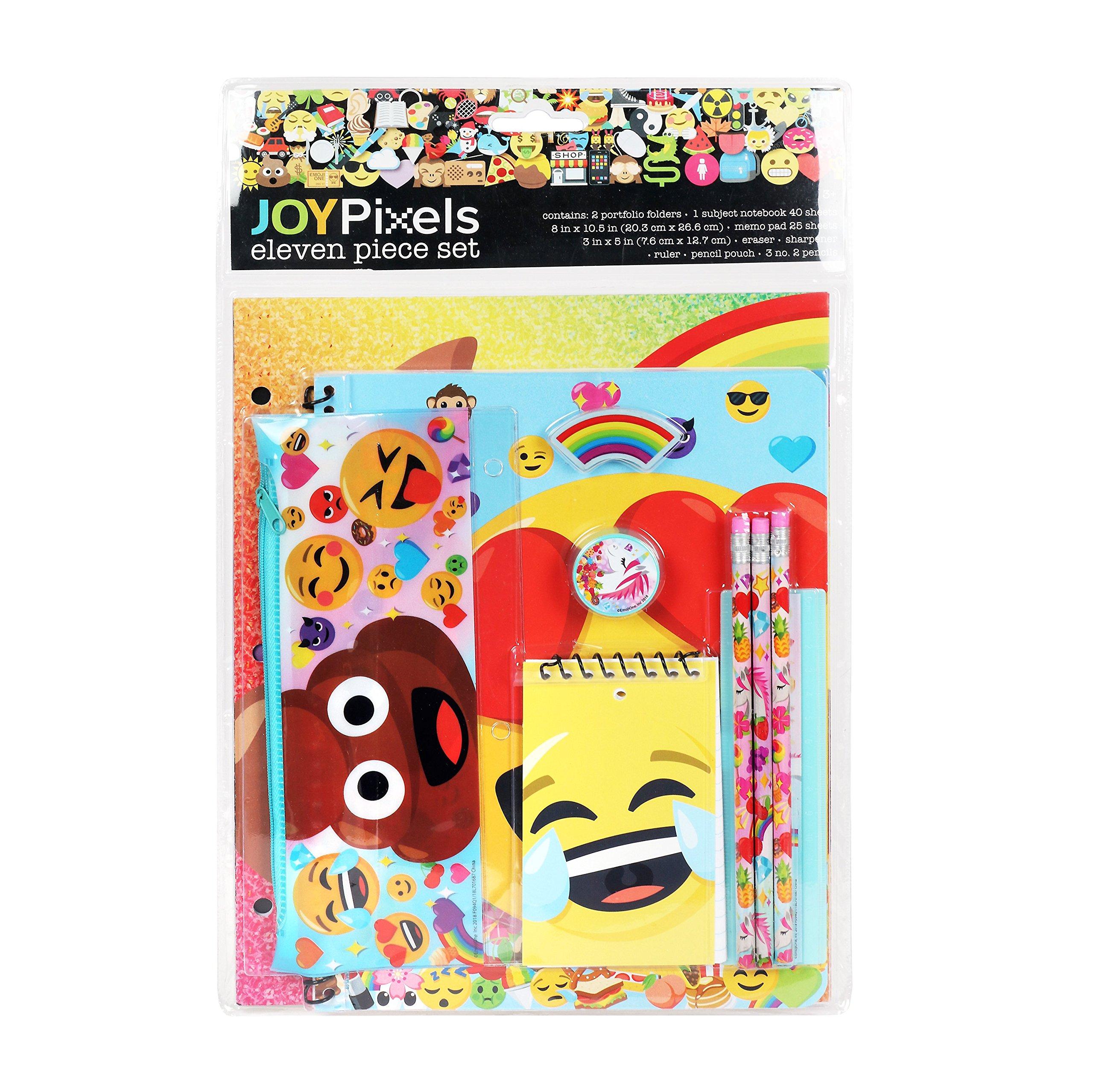 emoji 11 piece Set Back to School for Boys & Girls